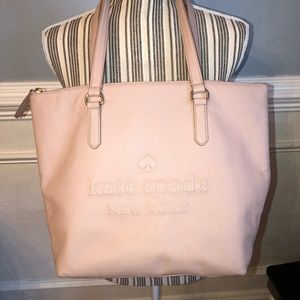Late spade tote Larchmont Ave pink preowned